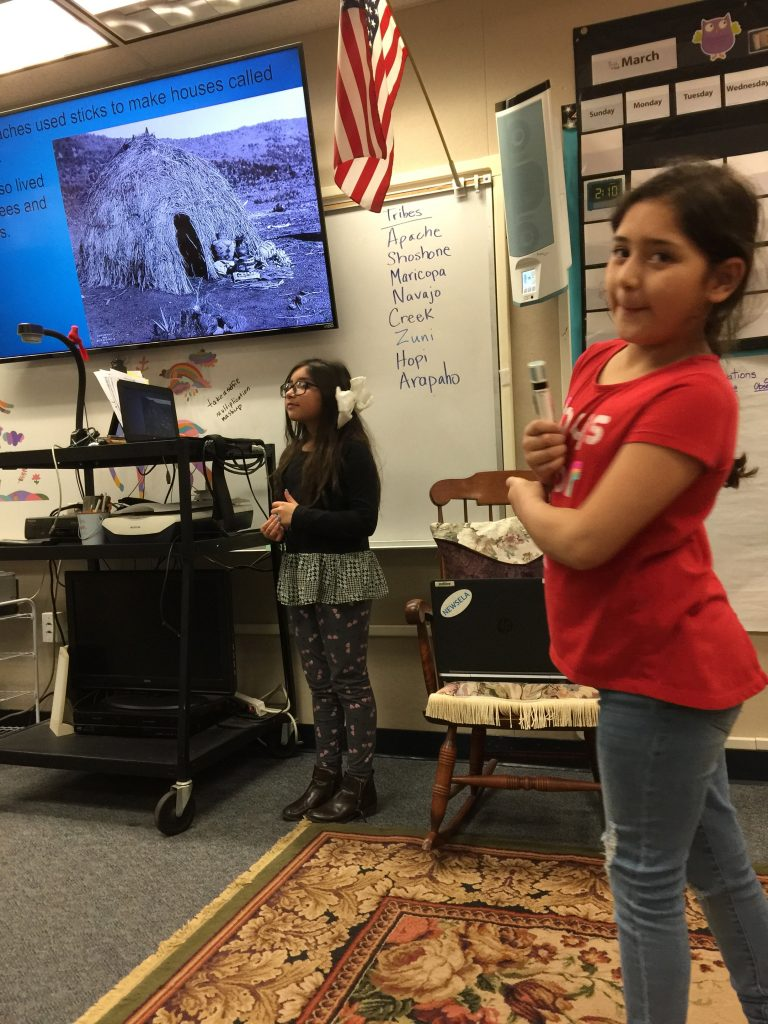 Oral presentations of Native Americans Lifestyles and History