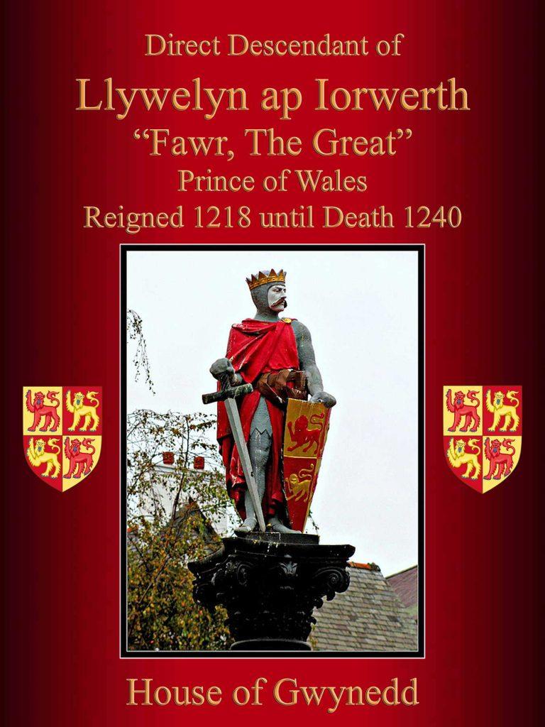 Llywelyn ap Iorwerth Prince of Wales - House of Gwynedd